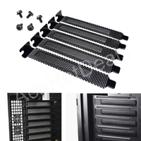 5x%20PCI%20Slot%20Cover%20Dust%20Filter%20Blanking%20Plate%20Hard%20Steel%20Black%20w/screws