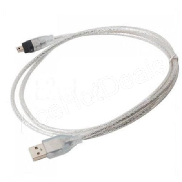 NEW 5FT USB To Firewire iEEE 1394 4 Pin iLink Adapter Cable | eBay